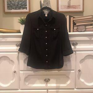 H&M Black Button Up Shirt